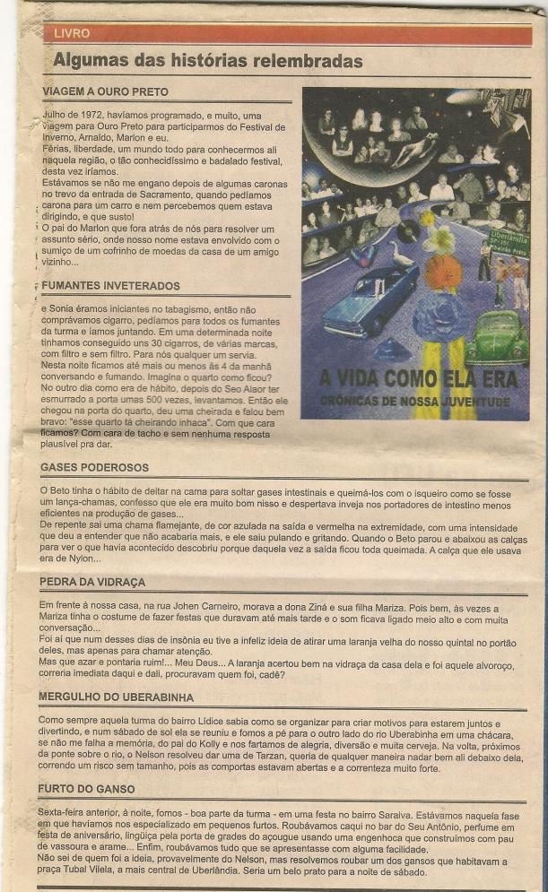06/03/2009 -CORREIO DE UBERLÂNDIA - ENTREVISTA